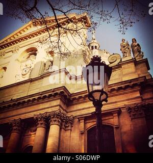 View of La Sorbonne university in Paris, France - Stock Photo