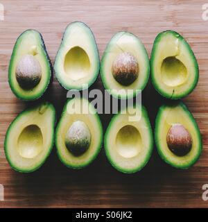 Avocado Halves - Stock Photo
