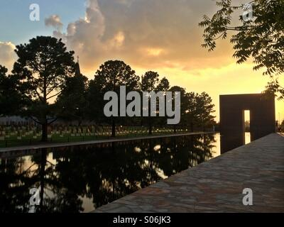 Oklahoma City National Memorial,  Oklahoma City, Oklahoma, USA - Stock Photo