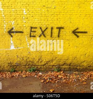 Exit sign. - Stock Photo