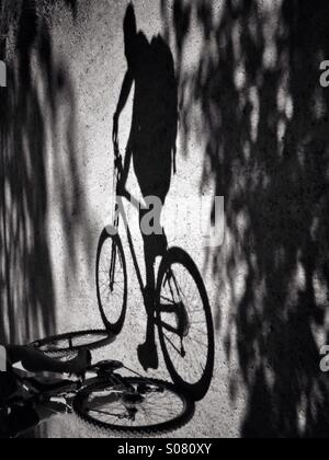 Bicycles may change, but cycling is timeless. - Stock Photo