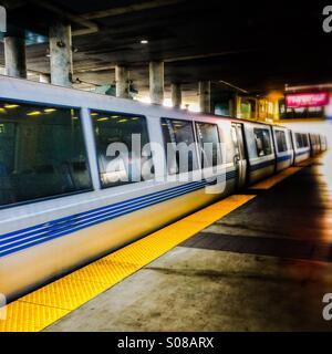 San Francisco BART Bay Area Rapid Transit train - Stock Photo