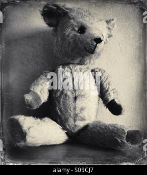 Old teddy bear - Stock Photo