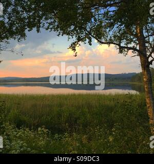 This is the lake 'Lilla Aspan' in Dalarna, Sweden - Stock Photo