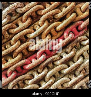 Red chain - Stock Photo