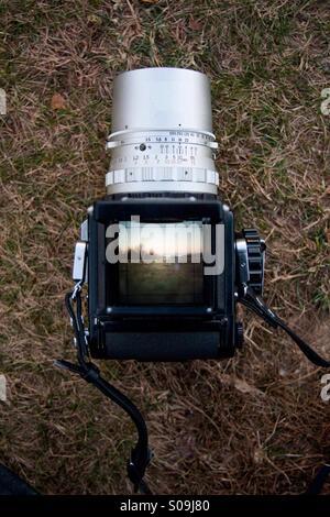 Medium format camera. - Stock Photo