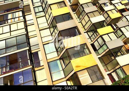 Building facade at Vina del Mar, Chile Stock Photo