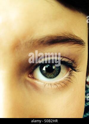 Eye of a child - Stock Photo