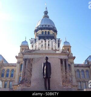 Illinois State Capitol Building in Springfield, Illinois - Stock Photo
