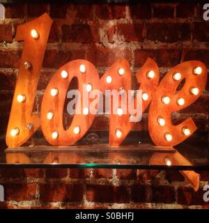 Love Light Sign - Stock Photo