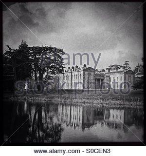 Compton Verney House, a monochrome view via Hipstamatic - Stock Photo