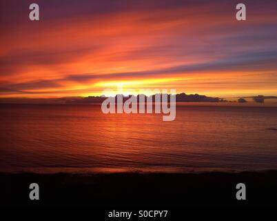 Sunset in Aberystwyth - Stock Photo