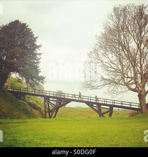 Old Sarum, Wiltshire, England, UK - Stock Photo