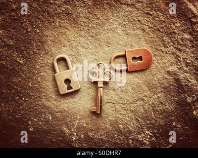 Locks and key - Stock Photo