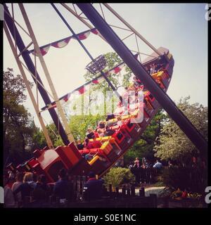 Jolly rocker pirate ship ride Legoland Windsor, England, United Kingdom. - Stock Photo
