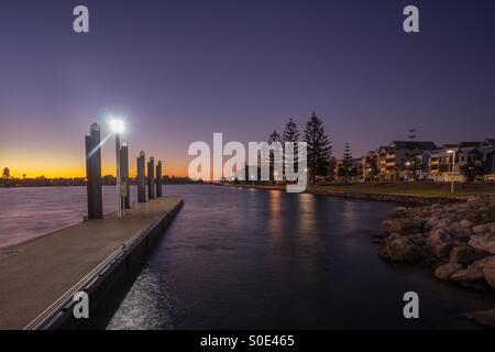 Beautiful Sunset at Mandurah, Western Australia - Stock Photo