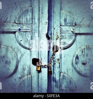 Locked doors - Stock Photo