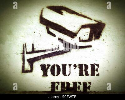Surveillance Freedom - Stock Photo