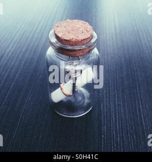 Jar with Keys Inside - Stock Photo