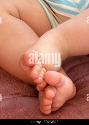 Chubby baby's feet - Stock Photo