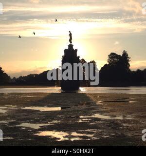 Diana fountain in Bushy Park, Teddington. UK - Stock Photo