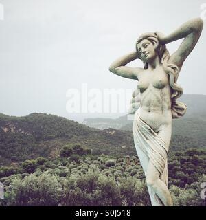 Statue of Venus, Cas Xorc, Soller, Majorca, Spain - Stock Photo