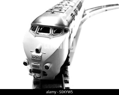 Marklin trans Europe express toy train set - Stock Photo