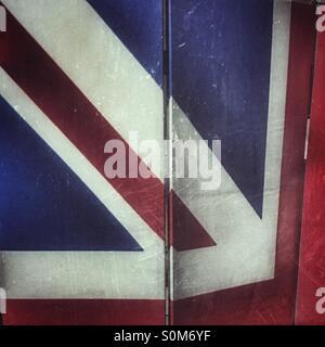 Union Jack pattern on a folding screen - Stock Photo