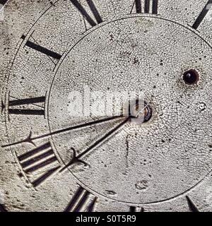 Antique clock face - Stock Photo