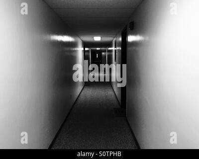 Dark Hallway - Stock Photo