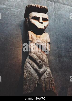 Wooden statue - Stock Photo