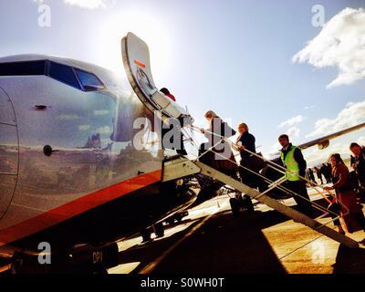 Boarding Ryanair flight - Stock Photo