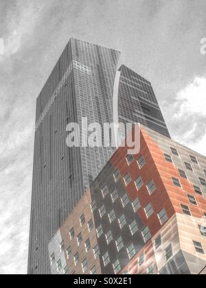 The Wyndham Hotel in Times Square is at the intersection of 42nd St. and eighth Avenue - Stock Photo