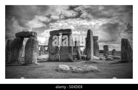 Stonehenge, Wiltshire, England - Stock Photo