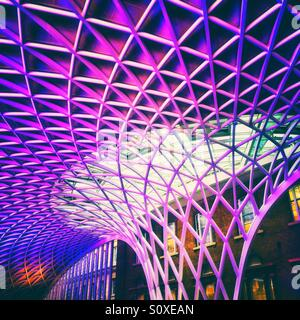 Architectural feature at Kings Cross Station London - Stock Photo