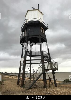 Dovercourt Essex Lighthouse - Stock Photo