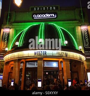 Brixton Academy's billboard: weezer, sold out! - Stock Photo