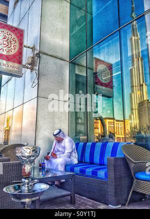 Shisha time in Dubai - Stock Photo