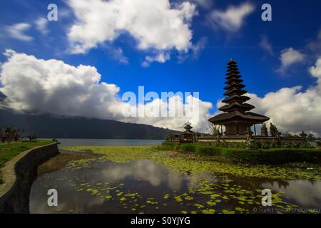 Pura Ulun Danu Bratan is major Shivaite and water temple on Bali, Indonesia. - Stock Photo