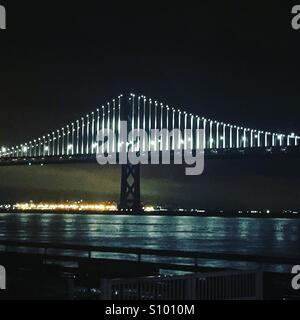 Bridge Lights Bay - Stock Photo