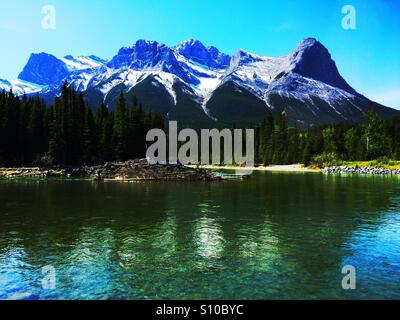 Rocky Mountain Reflections - Stock Photo