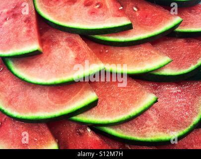 Juicy watermelon slices - Stock Photo