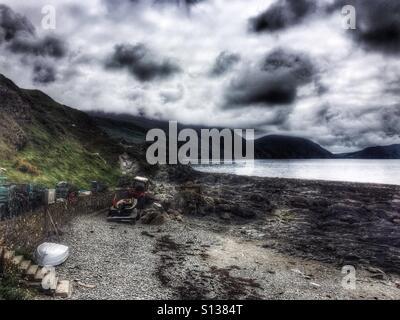 Niarbyl bay, Isle of Man - Stock Photo