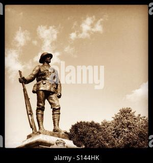 Tommy Atkins standing guard - Stock Photo