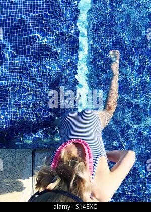 Climbing Out Of Swimming Pool Stock Photo Royalty Free Image 2675645 Alamy