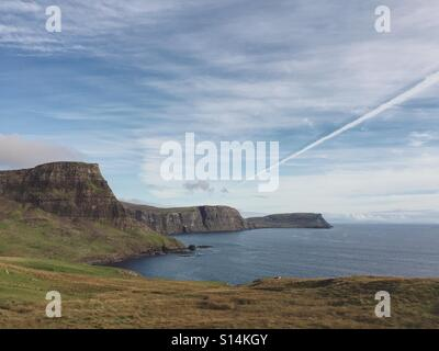 Neist Point, the westerly tip of the Isle of Skye, near Glendale, Scotland. - Stock Photo
