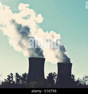 Limerick Generating Station nuclear power plant in Pottstown, PA - Stock Photo
