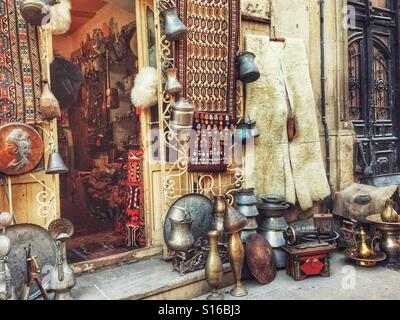 Souvenir Shop in old Baku - Stock Photo