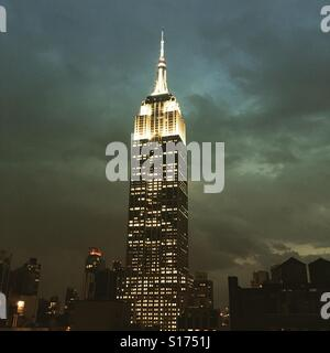 Empire State Building in New York City - Stock Photo