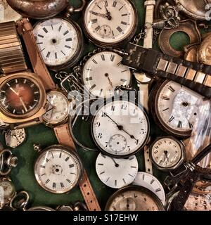 Old watch collection - Stock Photo